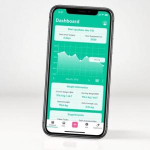 Telefon med screenshot på baribuddy appen